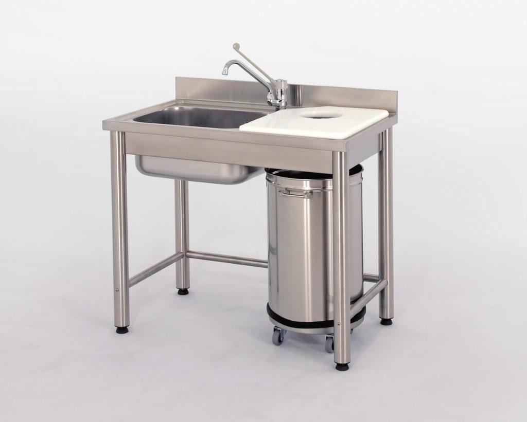 Table inox de préparation pour poissonnerie