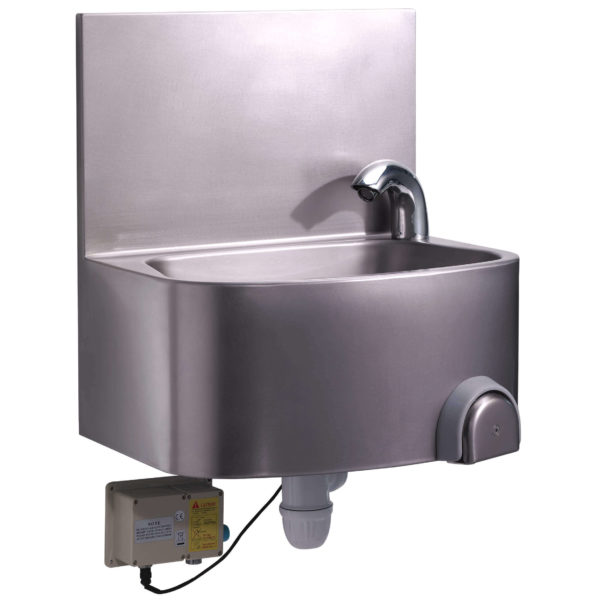Lave-mains inox électronique ou à piles