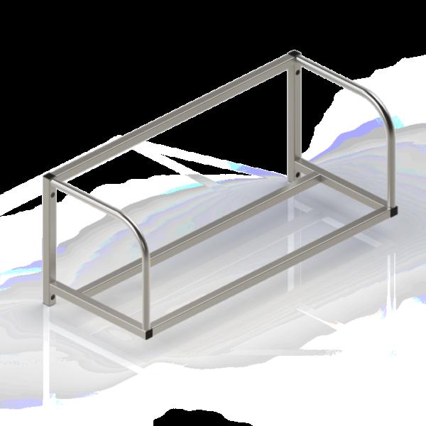 Étagère inox, murale, pleine et inclinée, pour panier lave-vaisselle - Type 2