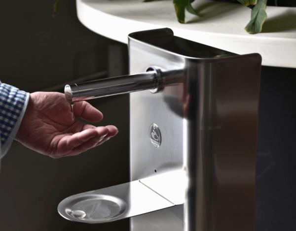 SMART DROP distributeur de gel hydroalcoolique avec détection du passage de la main