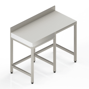 Table inox billot poly adossée professionnelle