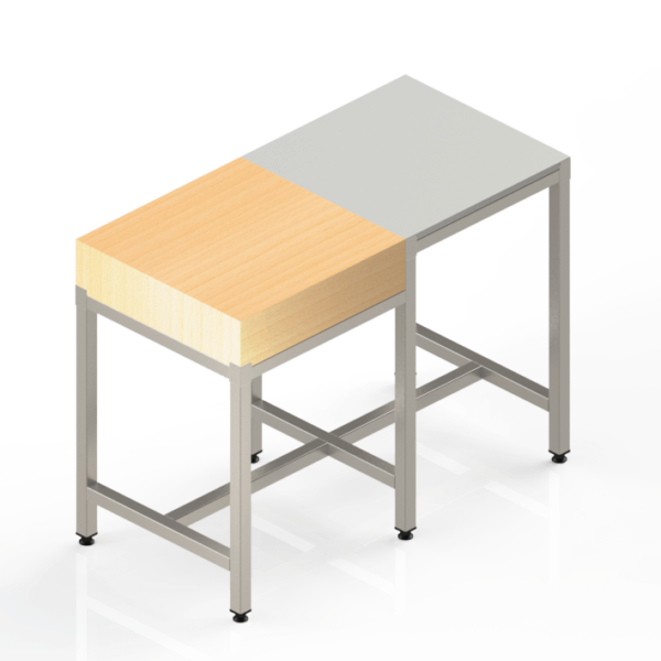 Table Inox Poly Bois combinée pour la cuisine professionnelle