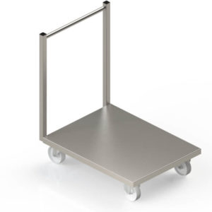 Chariot de manutention inox
