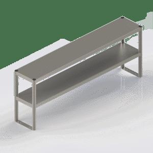 Etagère inox à poser sur table, sur 2 niveaux