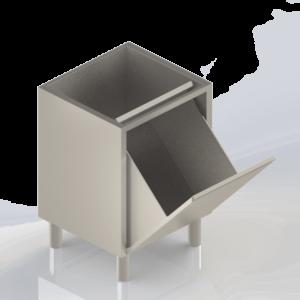 Meuble modulaire en inox