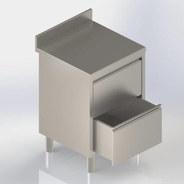 Meuble de rangement bloc tiroirs en inox