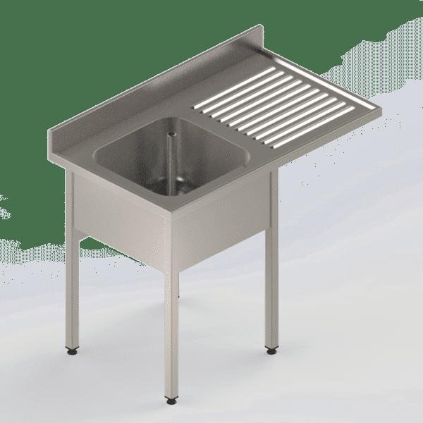 Plonge Inox Professionnelle avec emplacement pour lave-vaisselle