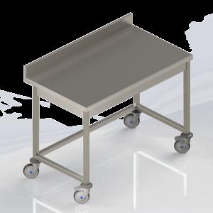 Table de travail inox adossée