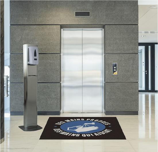 Smart Floor tapis absorbant pour distributeur de gel hydroalcoolique