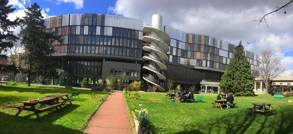 Campus Jourdan rénovation façade inox et boix