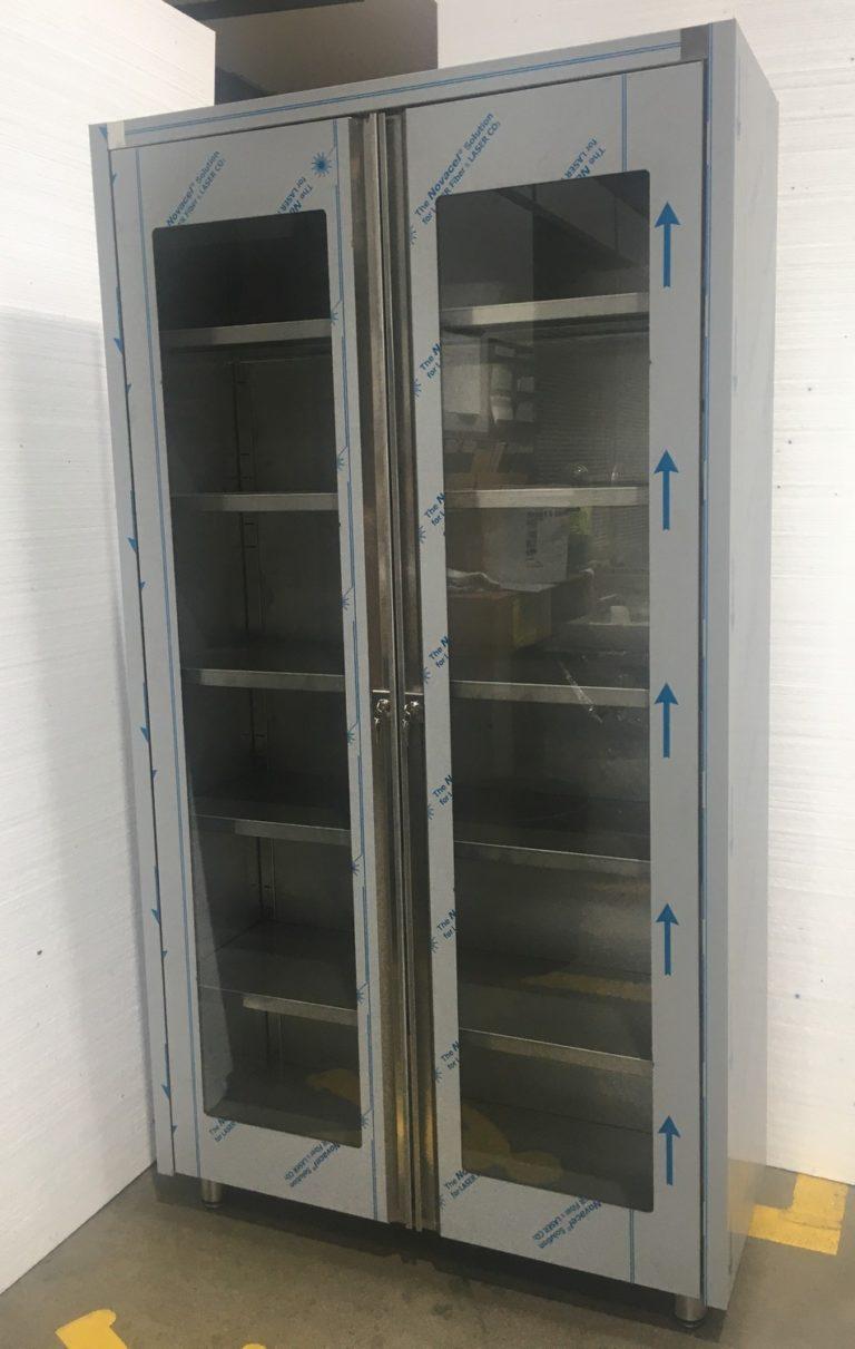 Armoire vitrée inox industrielle